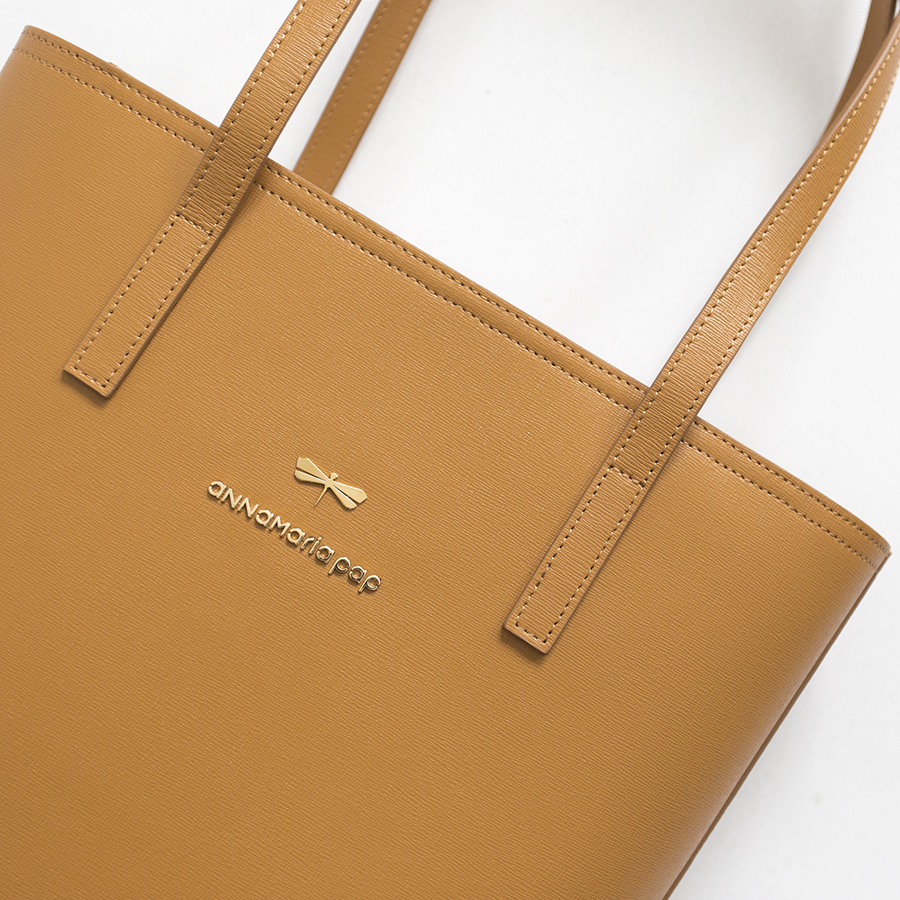 DORIS Cognac leather bag