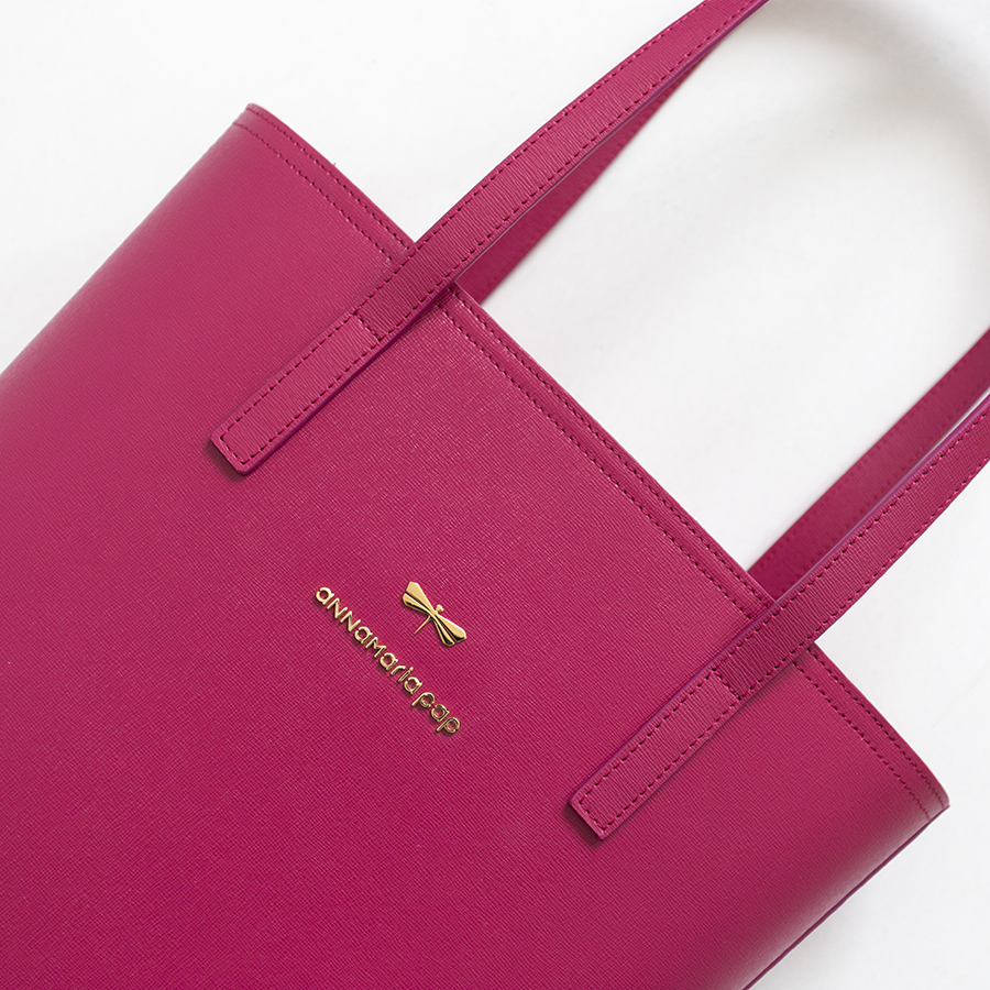 DORIS Raspberry leather bag