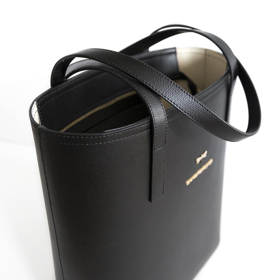 DORIS Black leather bag