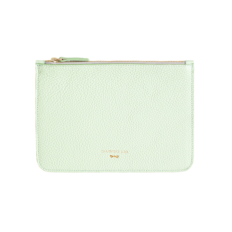 ANNE Mint leather pouch