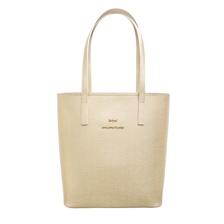 DORIS Light Gold leather bag