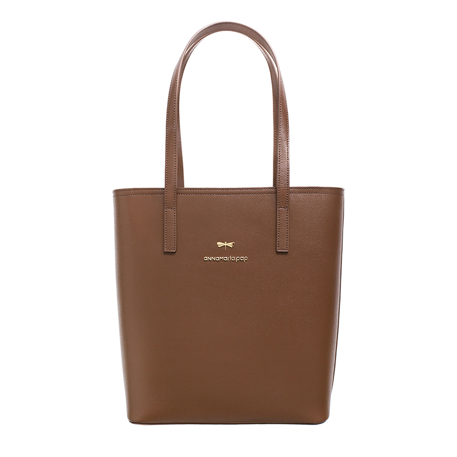 DORIS Chocolate leather bag