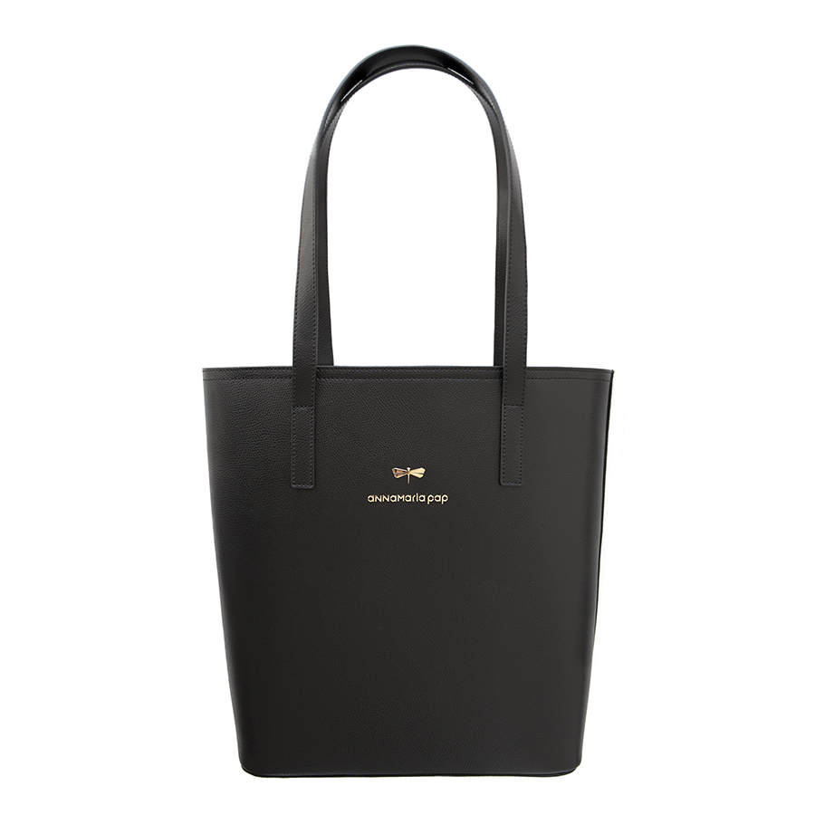 DORIS Black leather bag