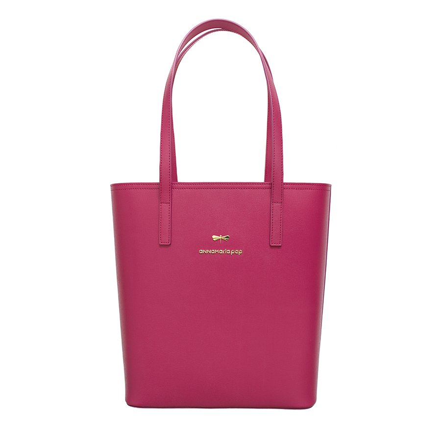 DORIS Raspberry leather bag