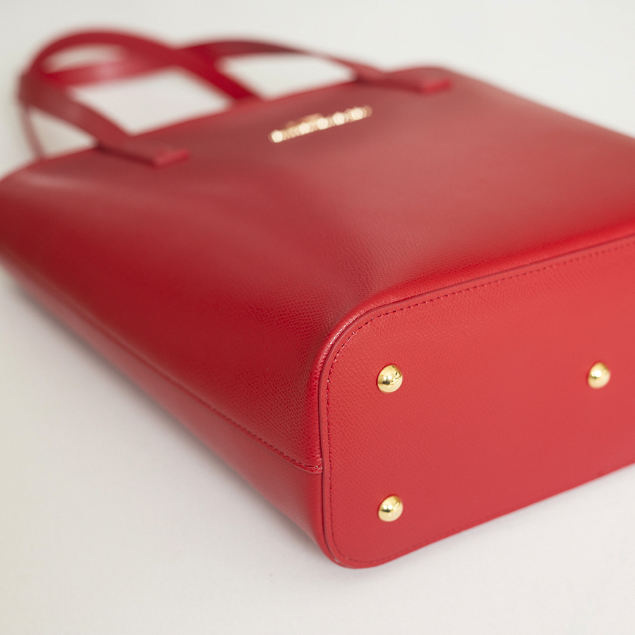 DORIS Sour Cherry leather bag