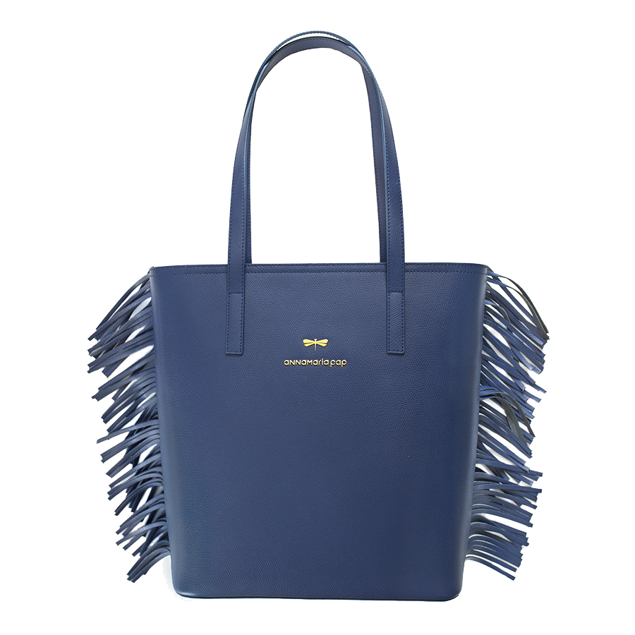DORIS Navy blue leather bag