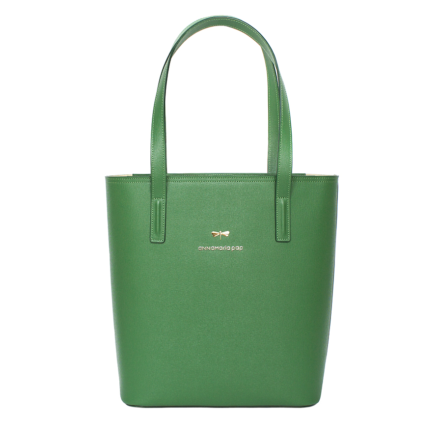 DORIS Emerald leather bag