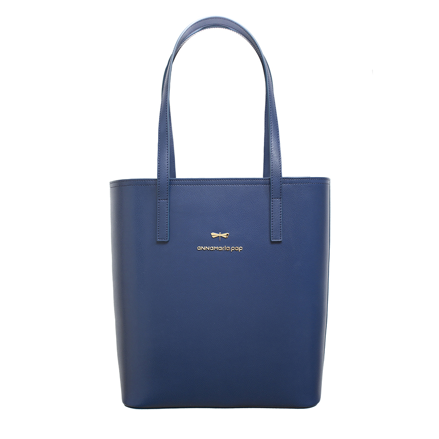 DORIS Dark blue leather bag
