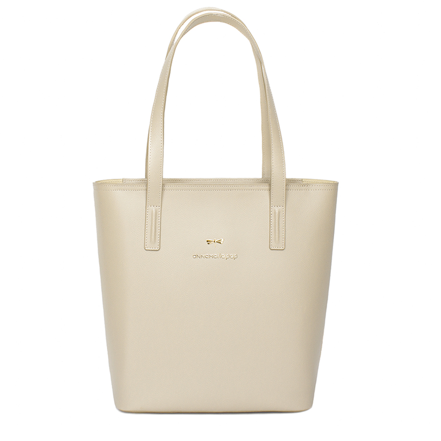 DORIS Almond cream leather bag