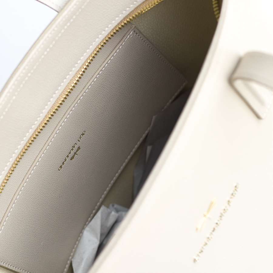 DORIS Almond cream leather bag