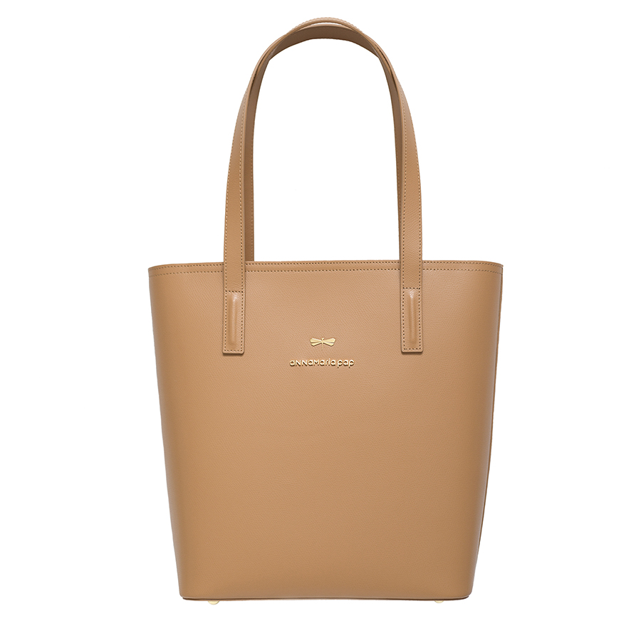 DORIS Toffee leather bag