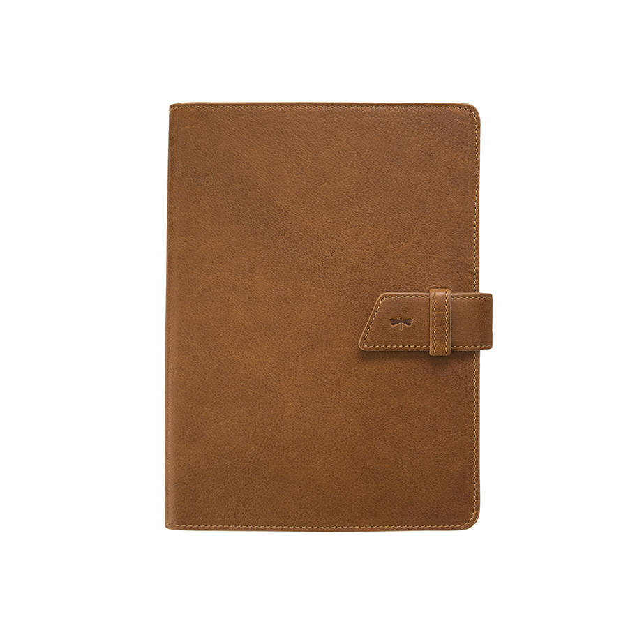 FRIDAY Brown nature leather case