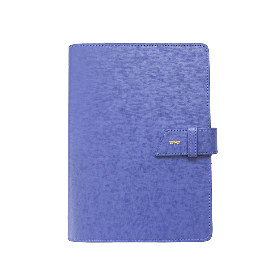 FRIDAY Plum blue leather case