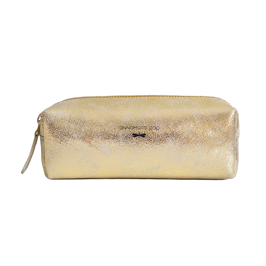 GWEN Gold leather pouch /pencil case
