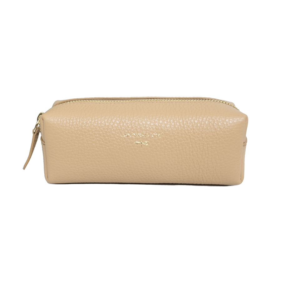 GWEN Sand leather beauty bag