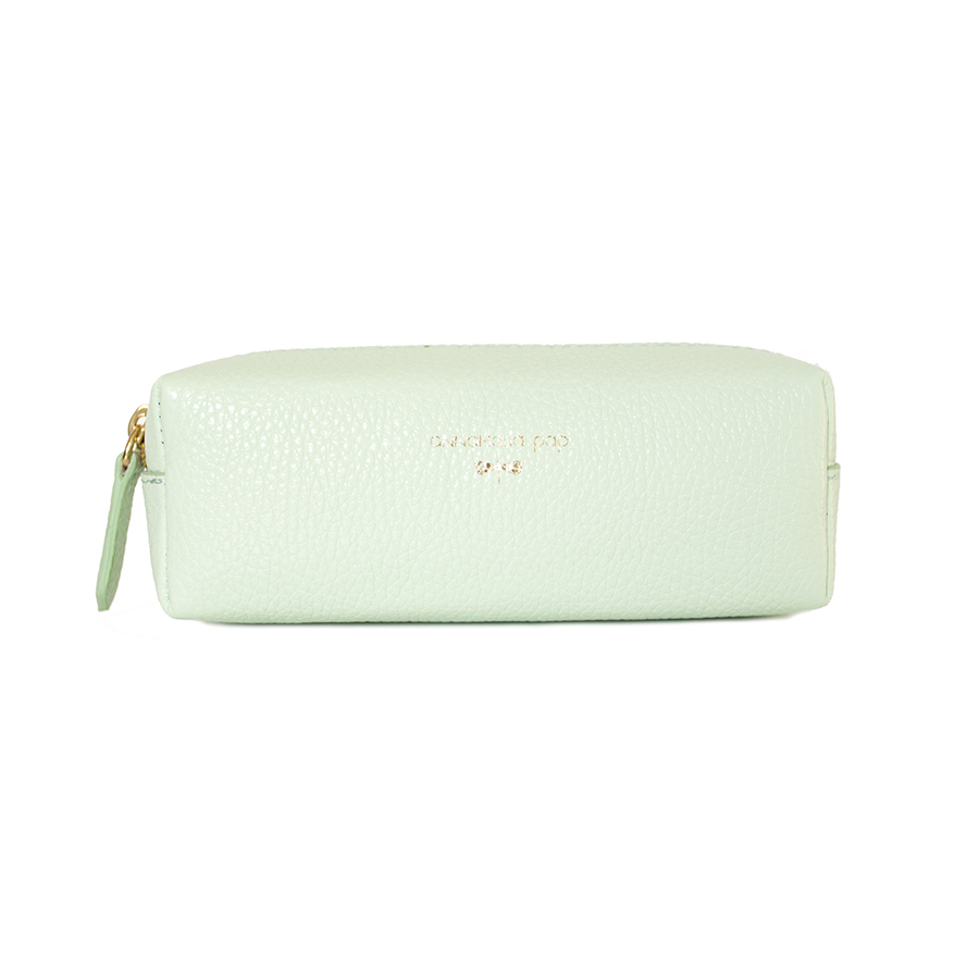 GWEN Mint leather beauty bag