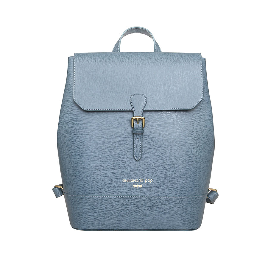 HALEY Denim leather backpack