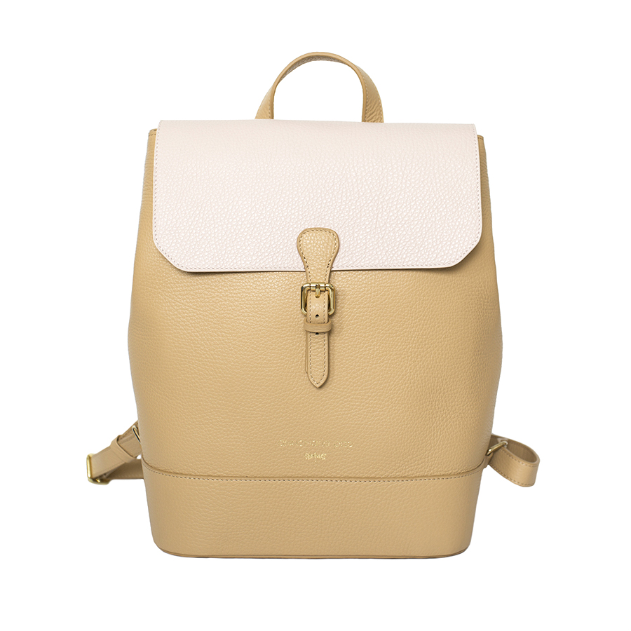 HALEY Sand & powder leather backpack
