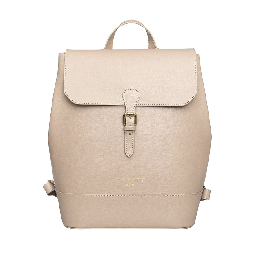 HALEY Nude leather backpack