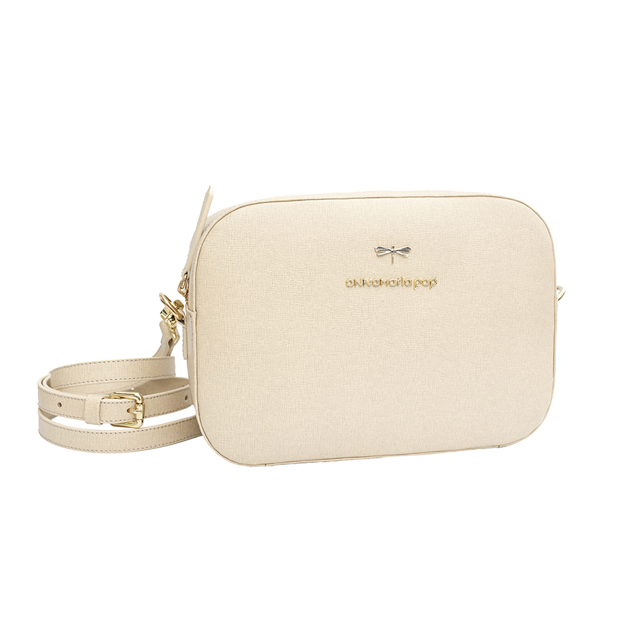 KAREN Beige leather bag