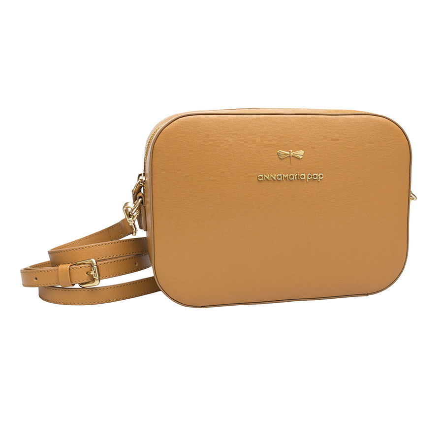 KAREN Cognac leather bag
