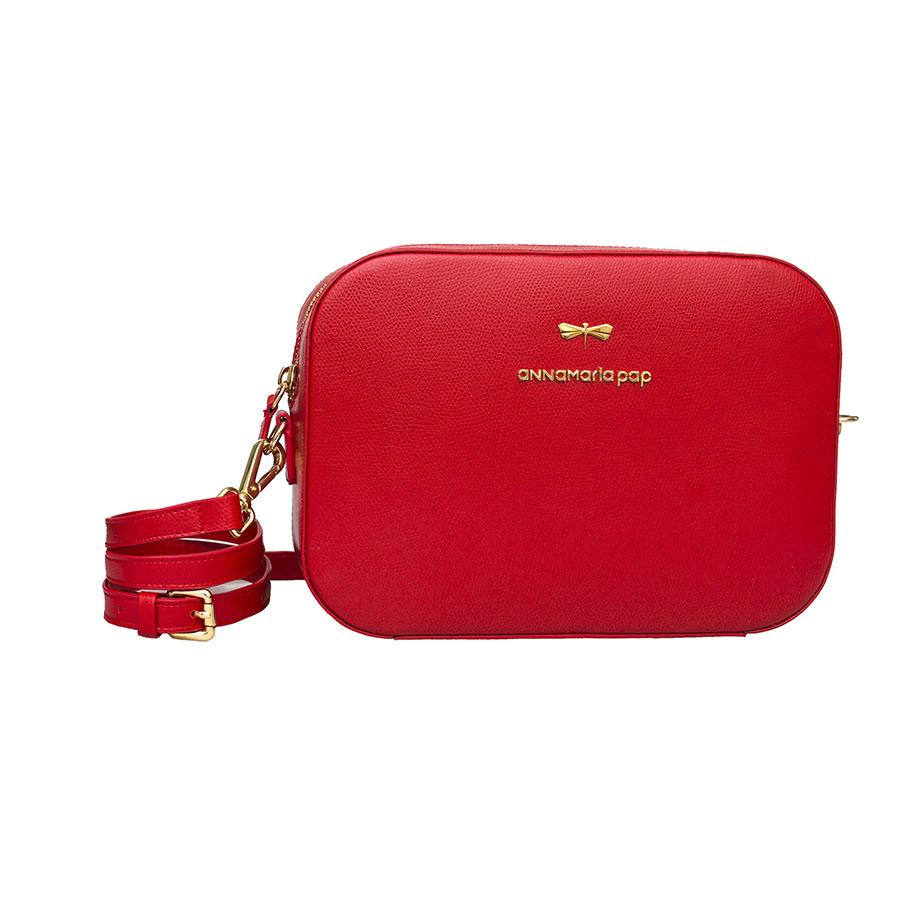 KAREN Sour Cherry leather bag
