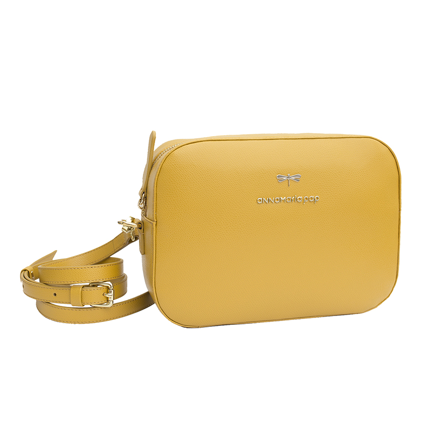 KAREN Mustard leather bag