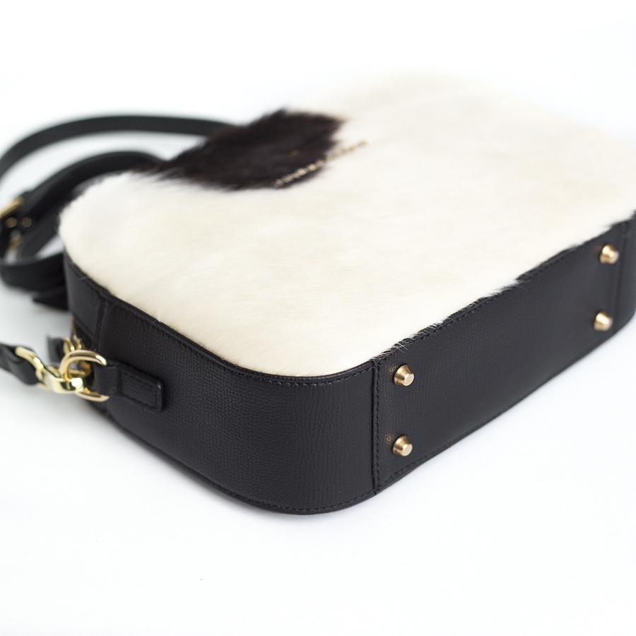 KAREN Black & White bőrtáska
