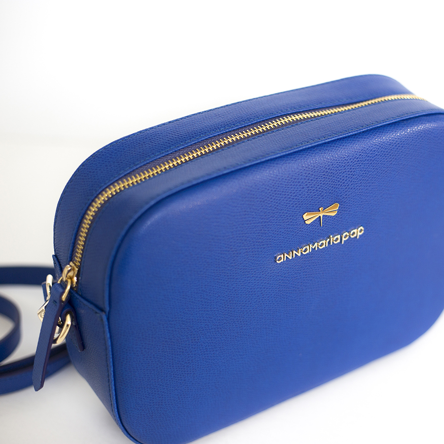 KAREN Royablue leather bag