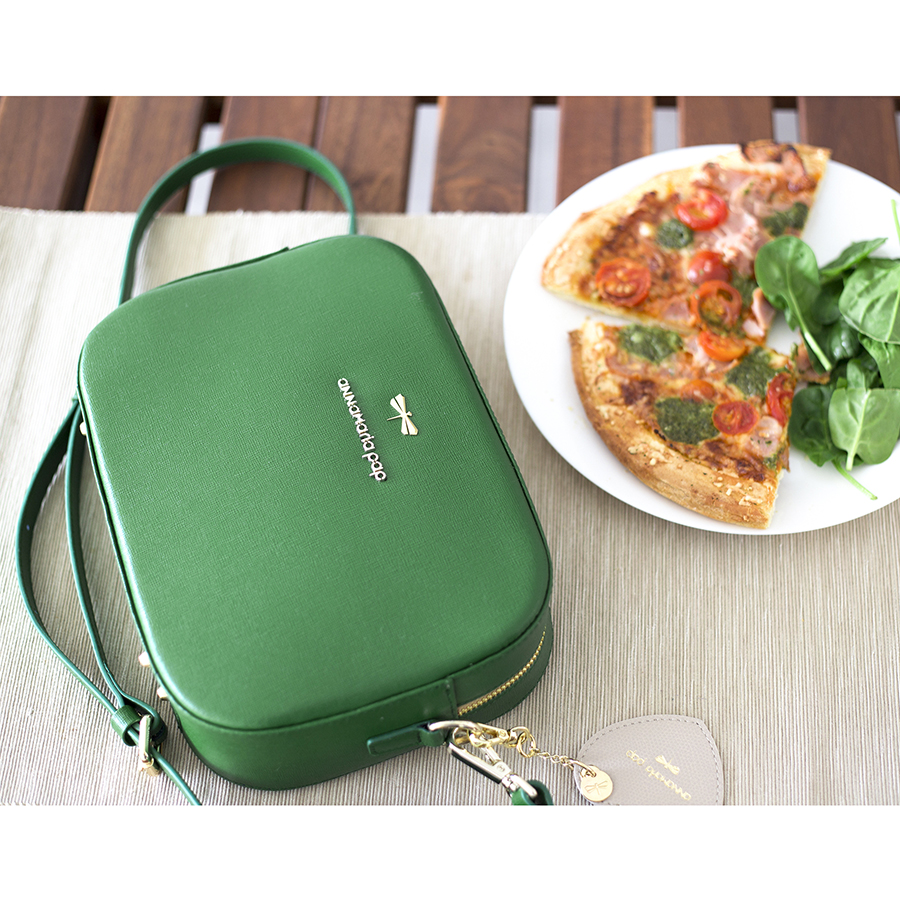 KAREN Emeraldgreen leather bag