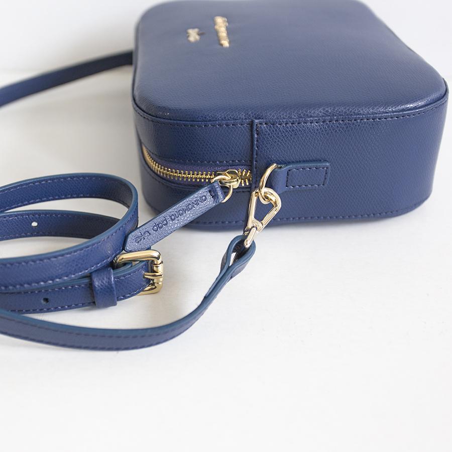 KAREN Navy blue leather bag