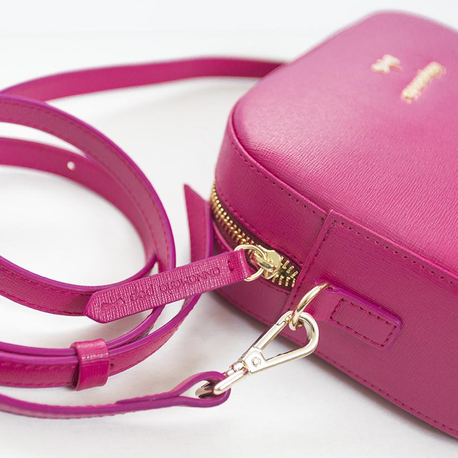 KAREN Raspberry leather bag