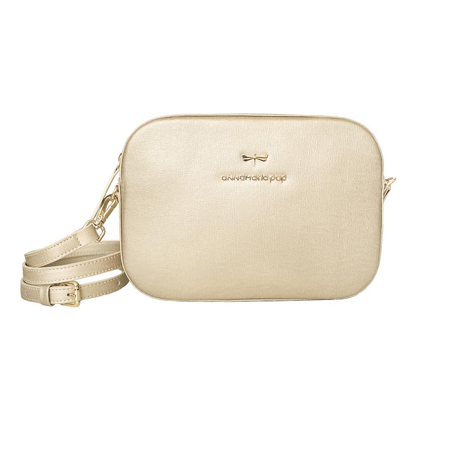 KAREN Gold leather bag