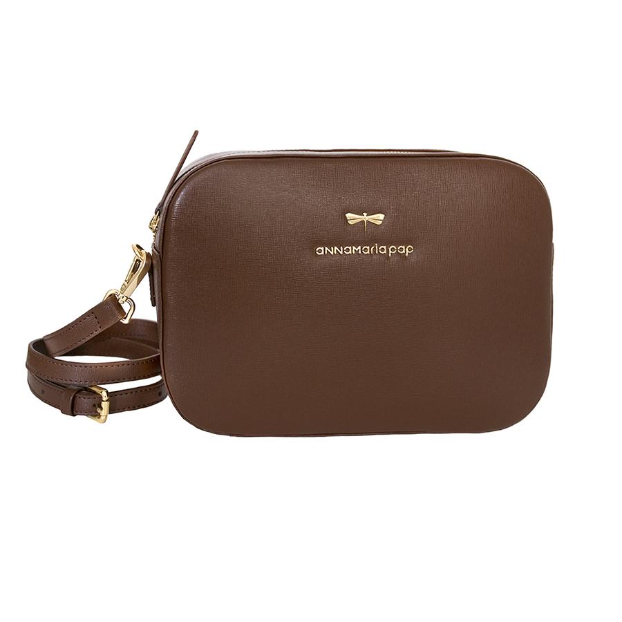 KAREN Chocolate leather bag