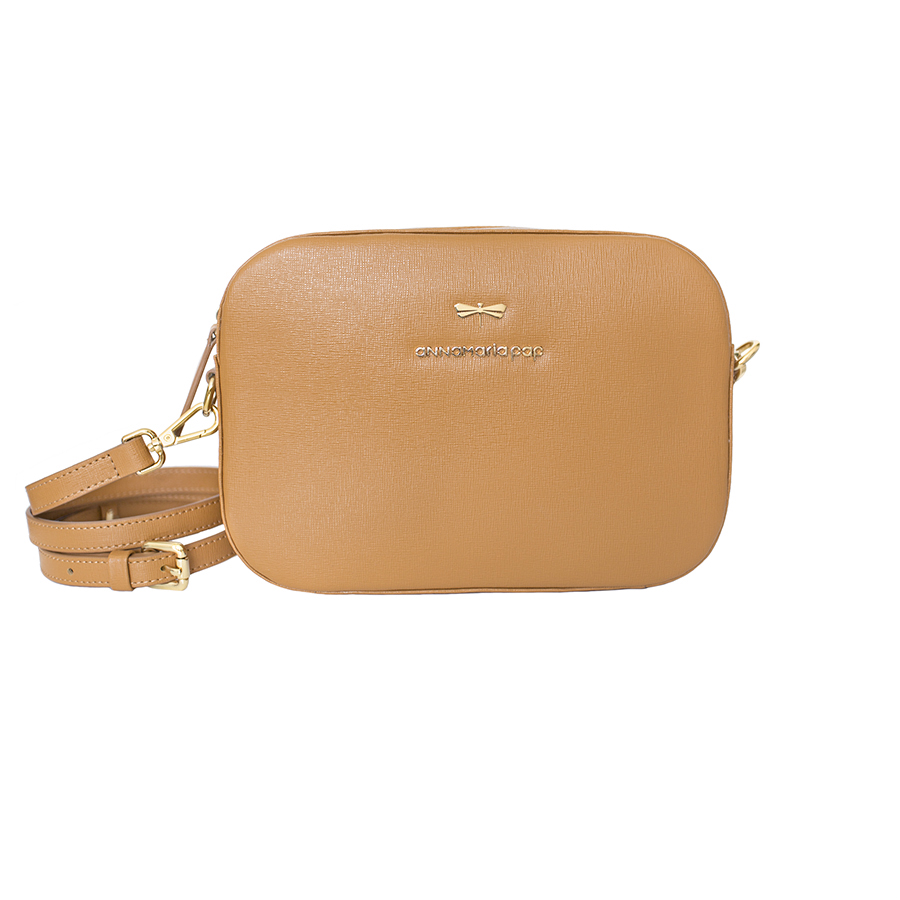 KAREN Cognac leather bag