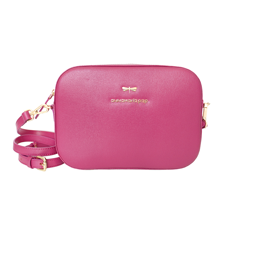 KAREN Raspberry leather bag