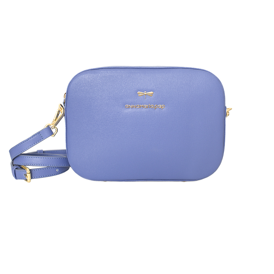 KAREN Plum blue leather bag