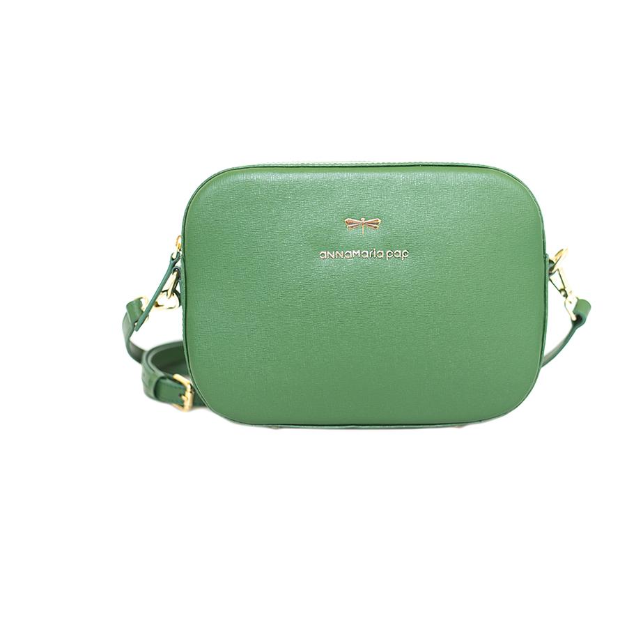 KAREN Smaragdzöld bőrtáska