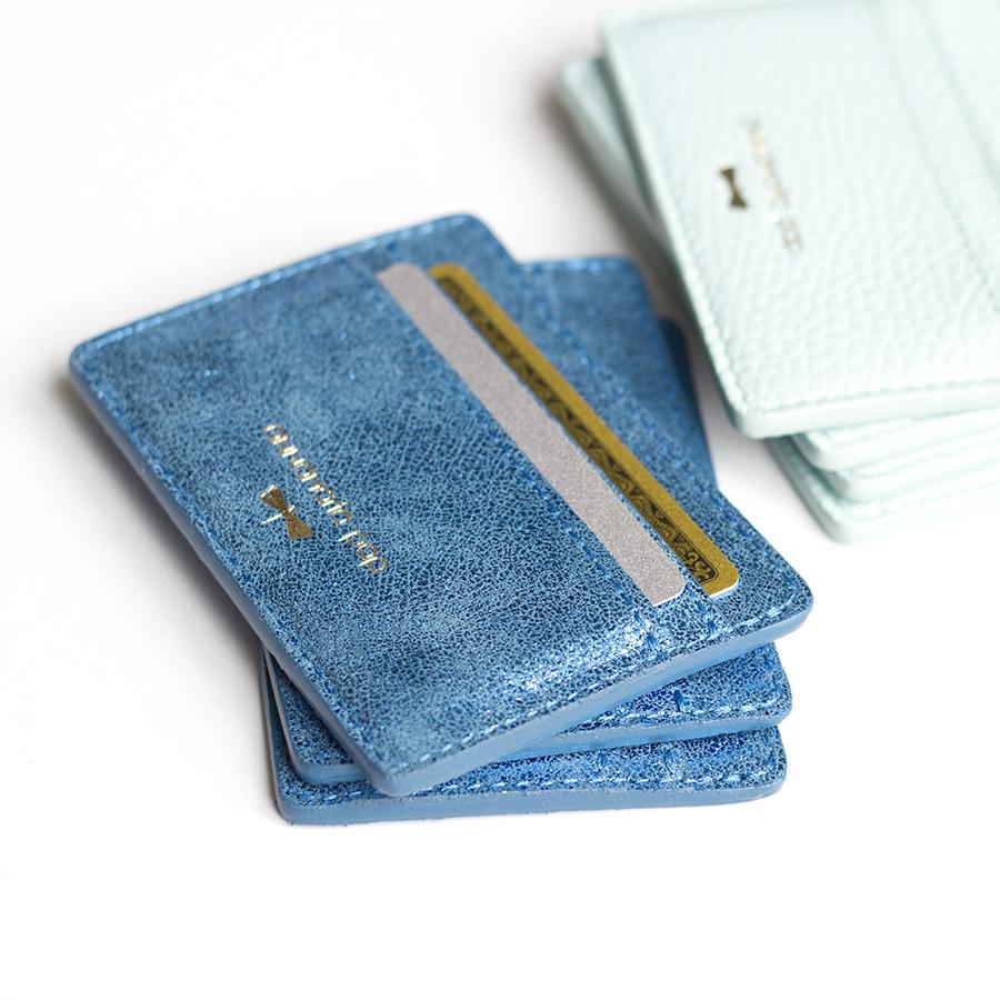 LIA Kék csillámos kártyatartó