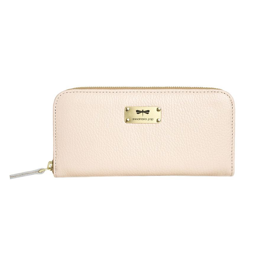 LILIAN Púderrózsaszín bőrpénztárca