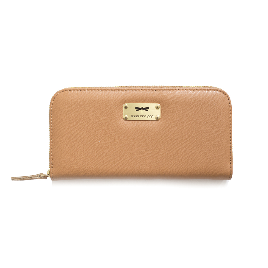 LILIAN Toffee leather wallet