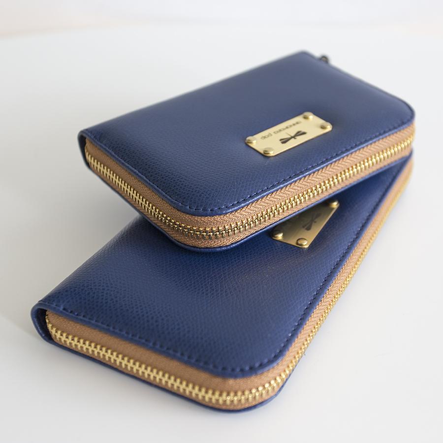 VICKY Navyblue leather wallet