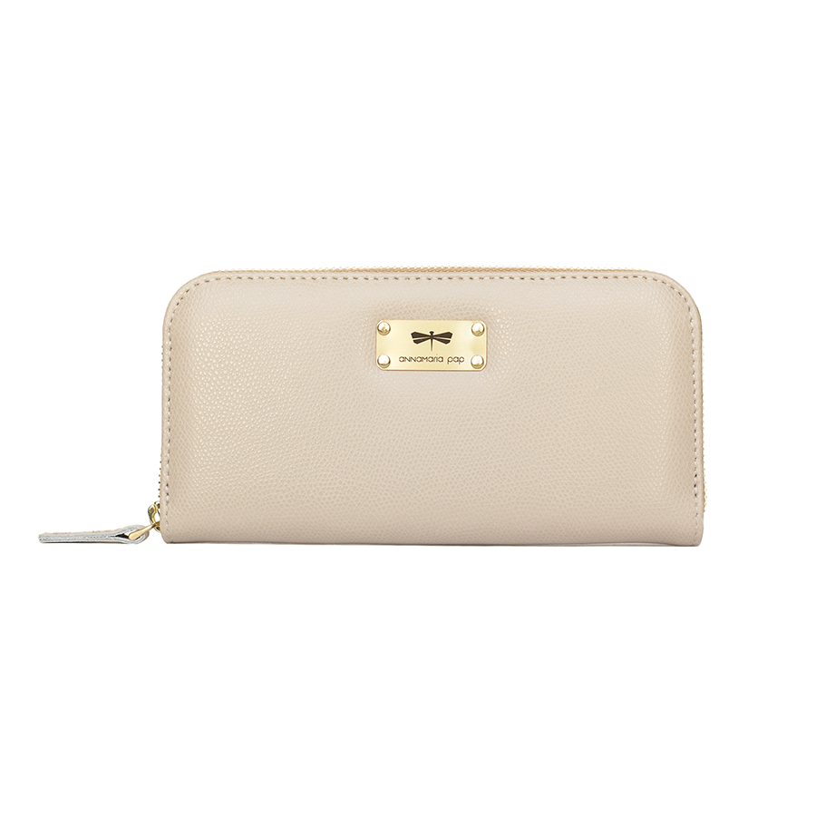 LILIAN Almondcream leather wallet