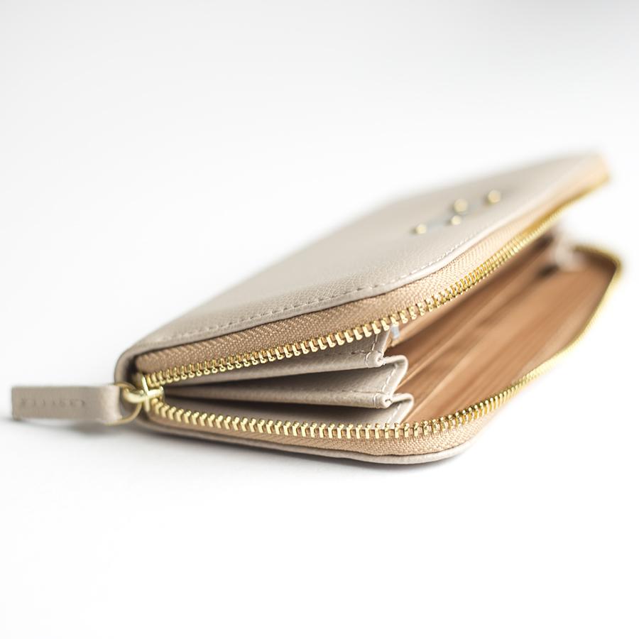 LILIAN Almondcream leather wallet