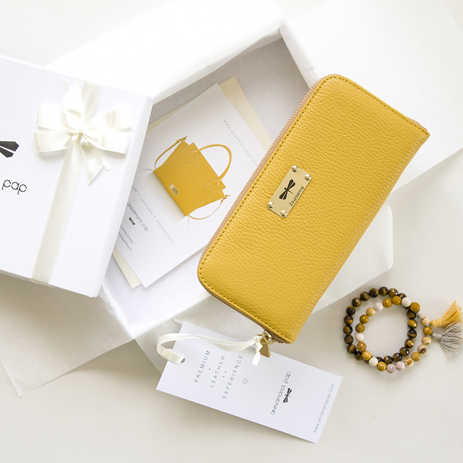 LILIAN Ananas leather wallet
