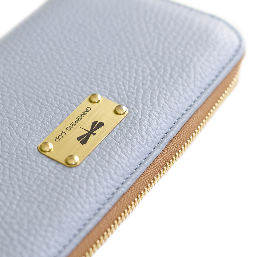 LILIAN Silverblue leather wallet