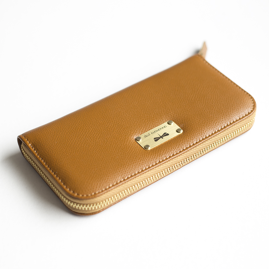 LILIAN Fahéj bőrpénztárca