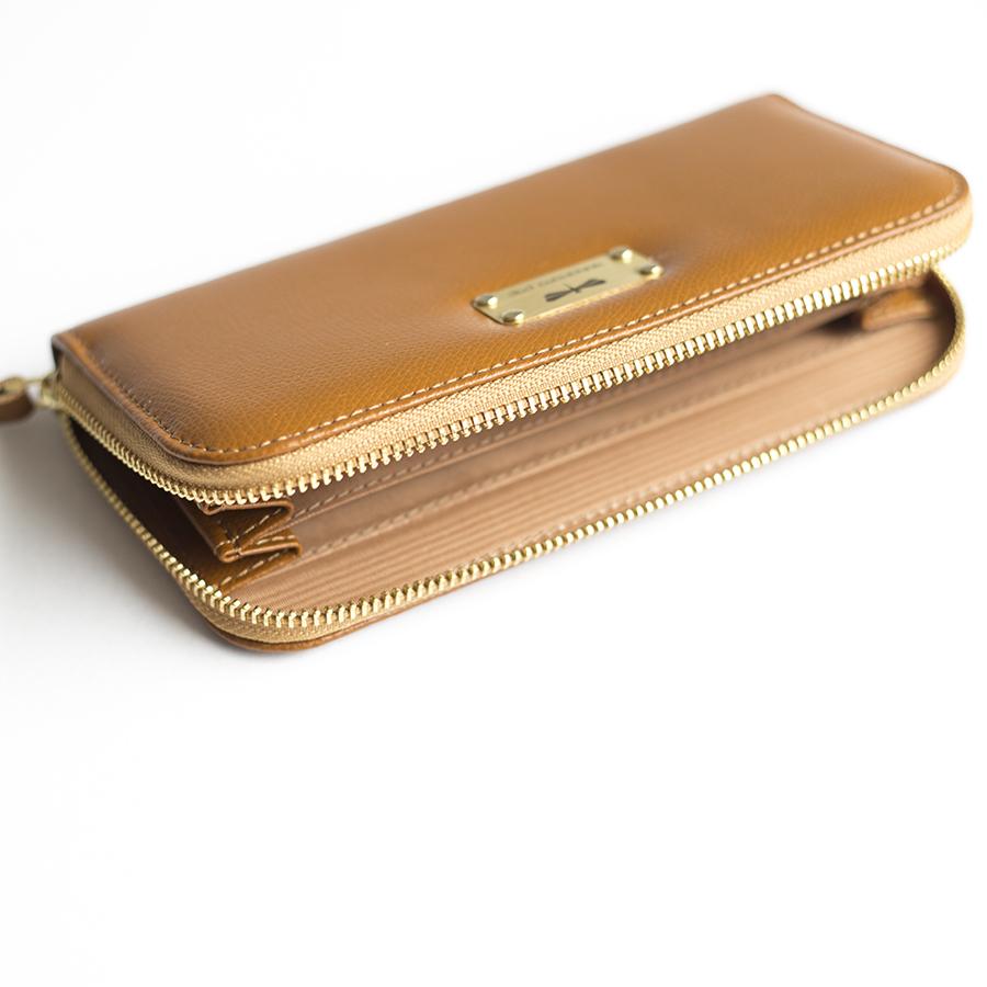 LILIAN Cinnamon leather wallet