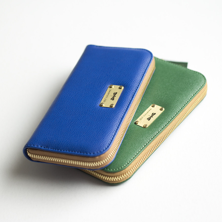 LILIAN Emerald leather wallet