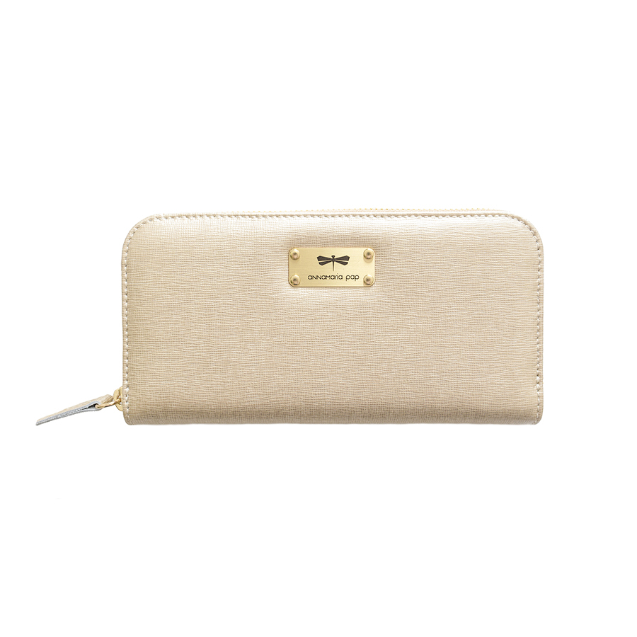 LILIAN Gold leather wallet